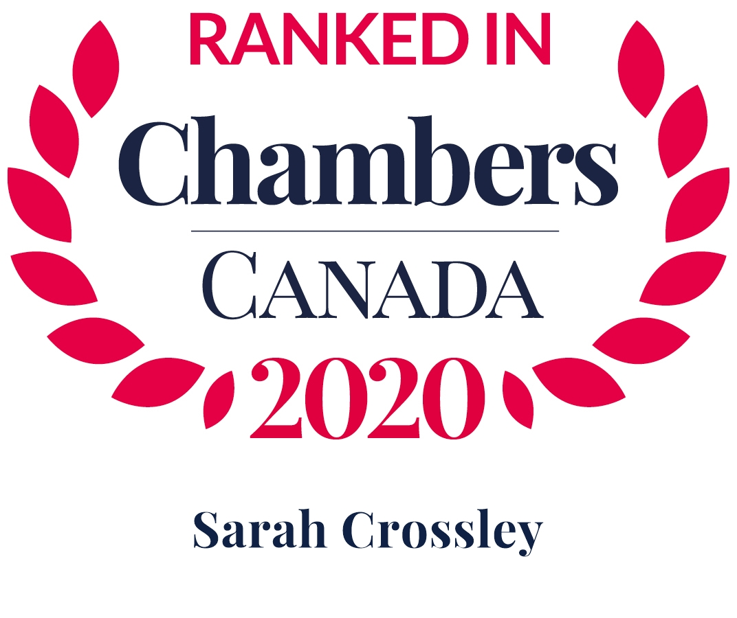 Ranked in Chambers Canada, 2018 - 2020